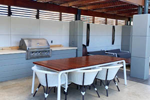 This picture shows a barbecue and outdoor kitchen contractors in San Diego