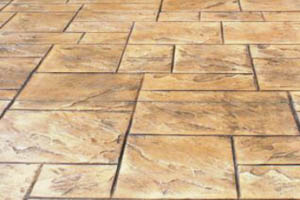 This picture shows a stamped concrete contractor in San Diego