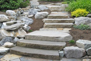 This picture shows stone steps in San Diego