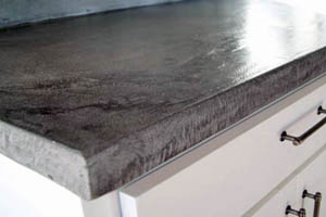 This picture shows a concrete countertop in a San Diego home
