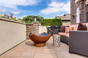 This picture shows a beautiful patio built by our patio contractors in San Diego