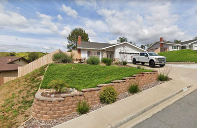this picture shows a brick retaining wall in san diego