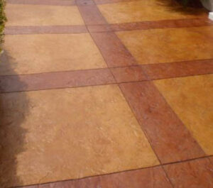 this picture shows concrete staining in San Diego by our contractors
