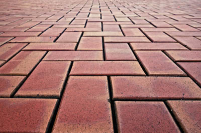 This picture shows brick pavers San Diego